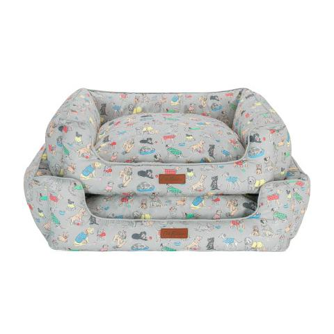 Novelty Dog Sofa Bed with Reversible Contrast Inner