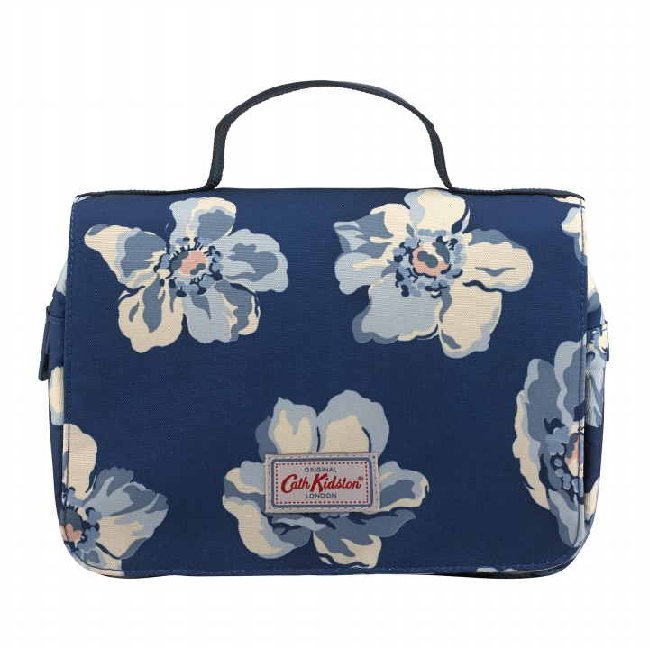 TRAVEL FOLDOUT WASHBAG SCATTERED ANEMONE NAVY