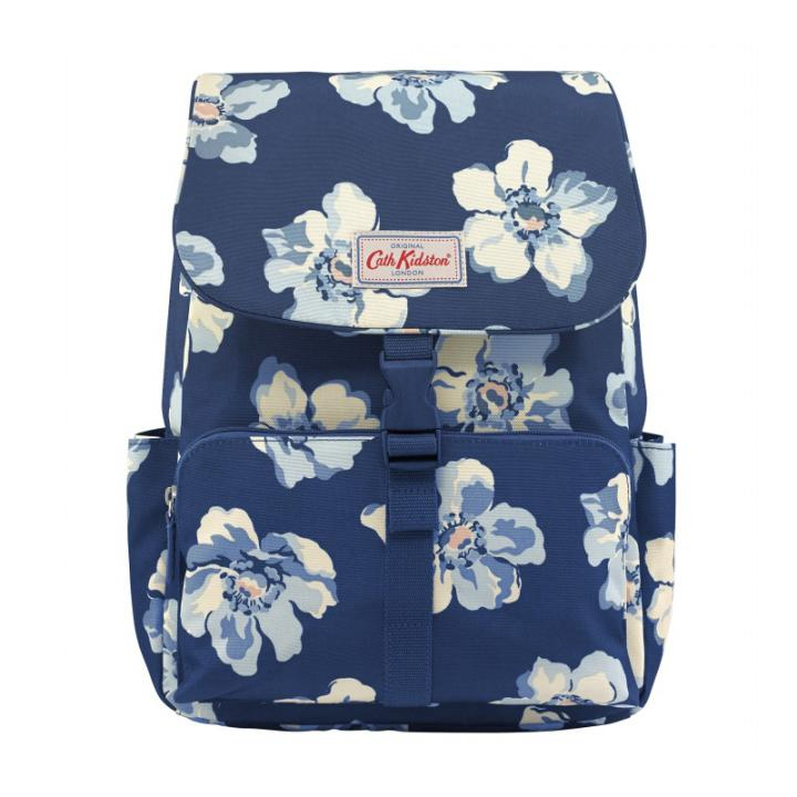 BUCKLE BACKPACK SCATTERED ANEMONE NAVY