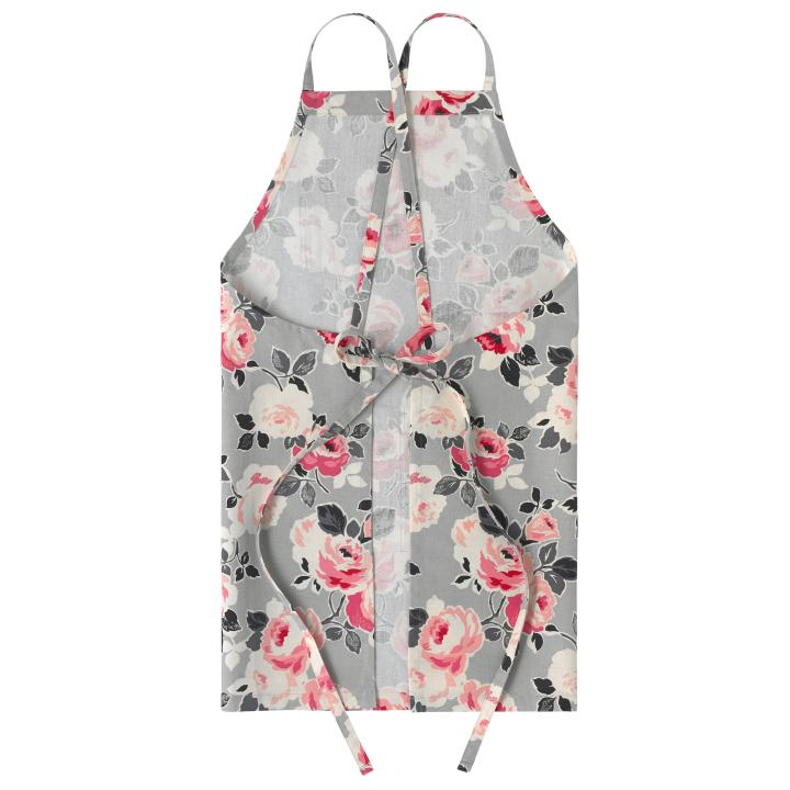 CROSS BACK APRON PAPER ROSE DOVE GREY