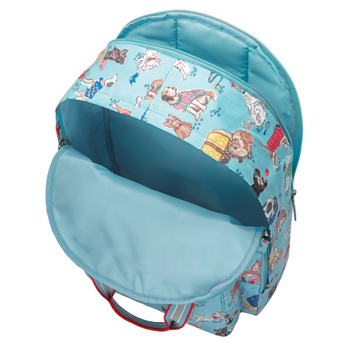 MULTI POCKET BACKPACK DOGS DUSTY BLUE
